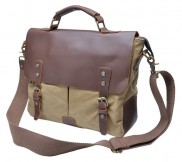 Leather Canvas Messenger Bags